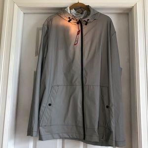 NWT Hunter unisex packable raincoat, silver sz XL